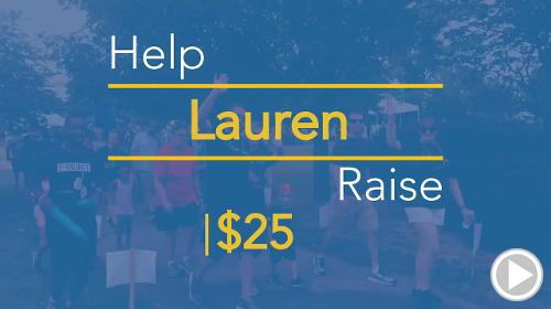 Help Lauren raise $25.00