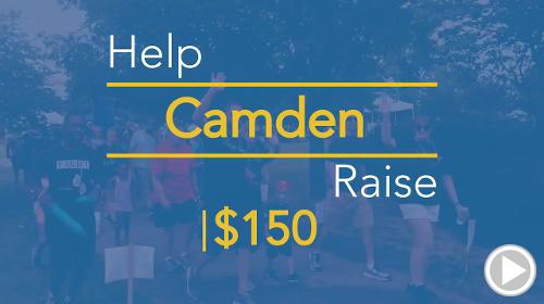 Help Camden raise $150.00