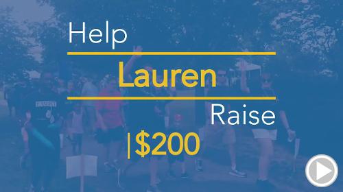 Help Lauren raise $200.00