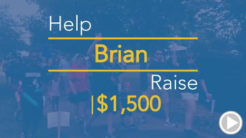 Help Brian raise $1,500.00